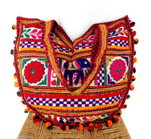 Banjara Style Shoulder bags-Wholesale traditional Indian Handmade wool Work Banjara Style shoulder bags