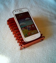 LEATHER CELL PHONE HOLDER DESK