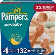 PAMPER -DRY BABY DIAPERS SIZE 4