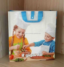 custom printed reusable and promotional bopp laminated pp woven shopping bag made in vietnam