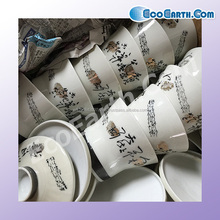 Various types of low-cost second hand ceramic plate from Japanese company