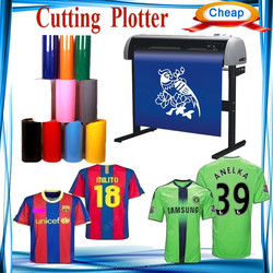 china cutting plotter supplier, football Club Uniforms name and number printing and cutting plotter machine
