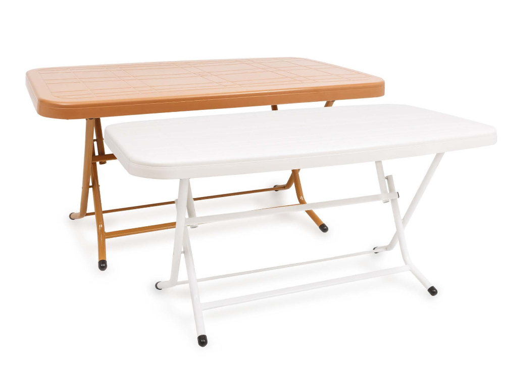 90x150 rectangular plastic table with metal folding leg - Plastic folding dining table ...