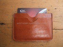 Vegetable Tanned Leather Card Case Leather Flat Wallet