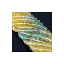 Multi Fluorite 4-4.5mm Smooth Beads Strand