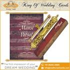 Design clássico azul Royal rolagem cartões de convite de casamento