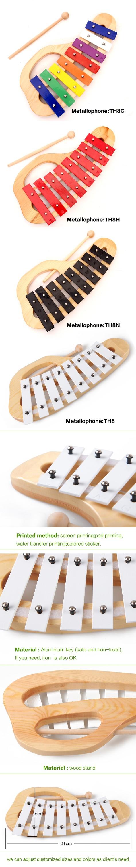 Fabricantes de brinquedos do bebê china, mercadorias kpop instrumento Musical glockenspiel xilofone, instrumento Musical metallophone