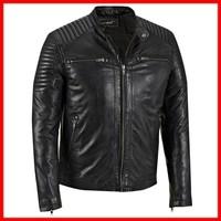 NWT Black Skeleton Motorcycle Biker Racing Premium Genuine Real Pure Leather Jacket - XS S M L XXL XXXL XXXXL 2XL 3XL 4XL