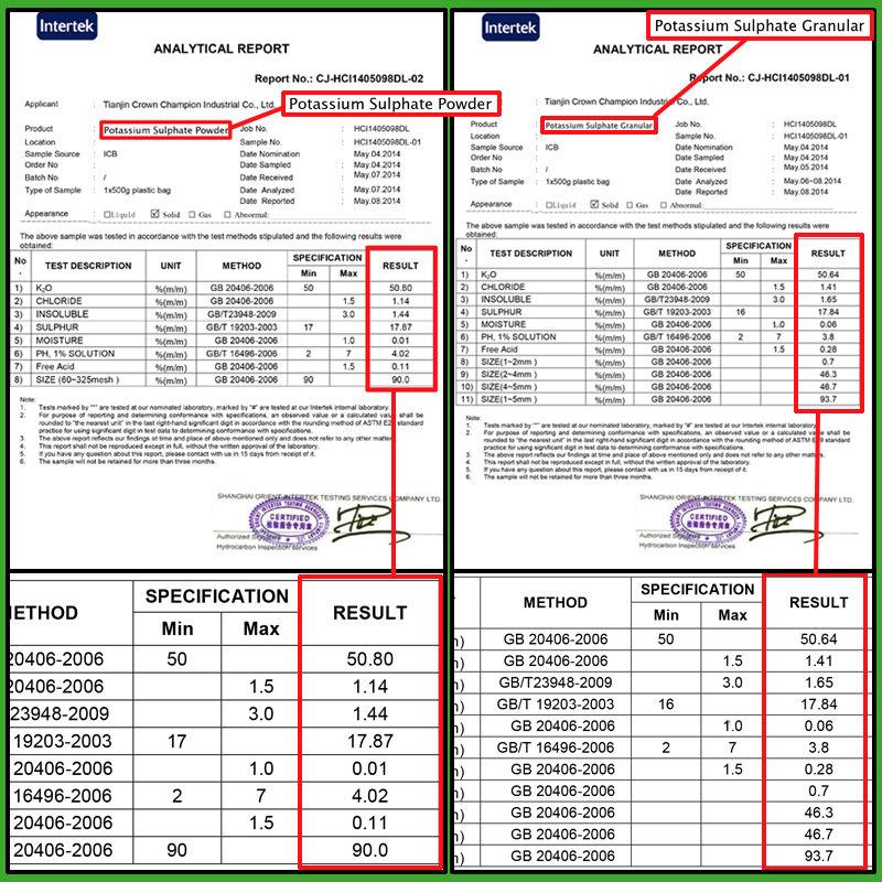 50% K2SO fertilizer grade SOP powder potassium sulphate price