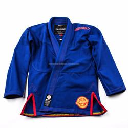 450 gsm blue color shoyoroll gi signle weave jiu jitsu gi with custom embroidery logo Made In Pakistan