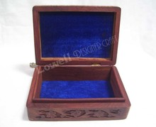 WOODEN CARVING JEWELERY BOX