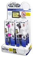 3-IN-1 STYLUS INK PENS BX = 6 PCS #028528L
