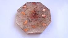 Orgonite Rose Quartz Octagon Vastu Plate : Wholesale Orgone Supplier India