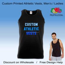 wholesale custom printed black gym vests