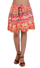 Ladies red color short skirt
