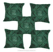 Rajasthani Mirror work Cotton Cushion Covers /Pillow covers