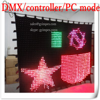 high quality handmade fireproof led stage curtain P5 3x4mr