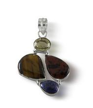Multi Shape & Multi Color Semi Precious Stone Pendant