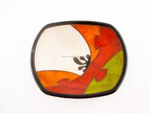 """9"""" Handmade Ceramic Fruit Platter"""