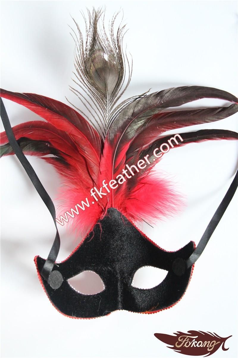 Naturel Artisanat Paon Plume Masque Vénitien Adulte Partie de Sexe Fournitures
