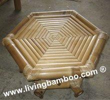 de bambú hexagonal de mesa