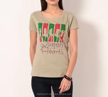 Womens latest fashion custom t shirt with print