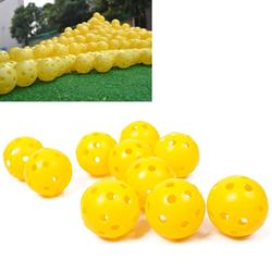 2/10Pcs Light Airflow Hollow Perforated Plastic Golf Practice Training Balls #64719