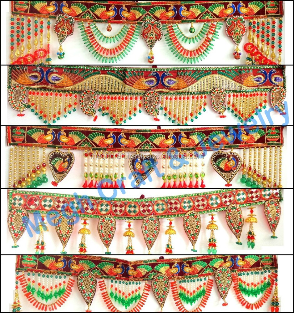 Wholesale beaded crystal work wall hanging diwali special for Handmade things for decoration