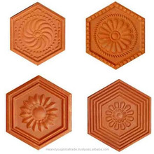 Classic Style Villa Designed Clay Roof Tile Varied Color Low Cost Terracotta Rigid Roofing Tiles