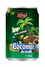 330ml Coconut Water Low Calorie.