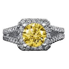 Halo diamanti 3 carati anello di fidanzamento doppia fila anello di diamanti in oro bianco