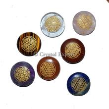 Enraved Flower of life Chakra Disc Set : Flower Of Life Pendant