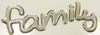 "Universal Car Family Badge Emblem Logo Boot Tailgate silver ""FAMILY"""