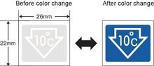 Color changing sticker digital thermometer for fridge/MEDESHIL LABEL