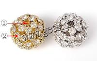 more colors for choice with Zinc Alloy Ball Rhinestone Spacer