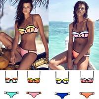 Women Swimwear Push-up Swimsuit Bathing Suit Hot Sale 4 Colors Triangle Bandage Sexy Bikini Set Drop Shipping