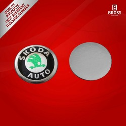 2 Pieces Car Key Logo Auto Emblems Dia:1.4cm Car Styling Sticker for Skoda Octavia A7 A5 Rapid Yeti Fabia Superb