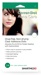 Cover-Dot Acne Care - Acne Cure - Drug-Free - Absorbing Adhesive - Hide Pimples - Help Reduce Scarring - Made in USA