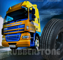 "all steel truck tire in china brand RUBBERSTONE 1100r20 ""Travel Safely whenever you go"""