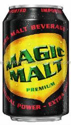Dark Malt Beverage in can (Non-alcoholic malt)