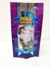 custom order cat foods 4 side seal bags,cat food treats plastic bags,plastic printing pet food packaging bags with side gusset