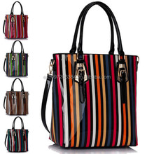 Handbag in genuine leather Bast-tex