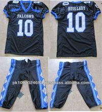 De encargo del fútbol americano jerseys conjuntos con números y el nombre del equipo