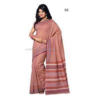 Cotton Sarees Blouse Designs \ Bengal Cotton Sarees