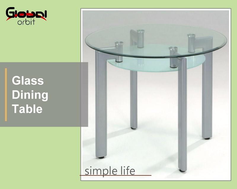 modernes design küche runde glasplatte esstisch mit metall basis, Esstisch ideennn
