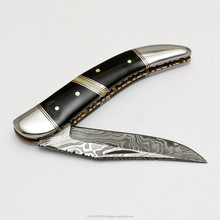 Damascus custom hand made Folding knife