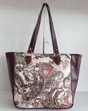 India hot sell 2015 new design print flower pu purse bag hot sell in India
