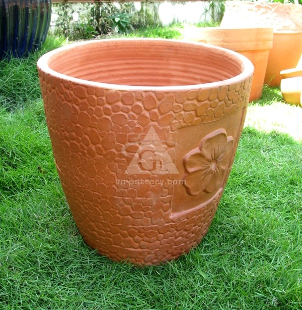 en terre cuite planteur pour jardin gros pots fleurs. Black Bedroom Furniture Sets. Home Design Ideas