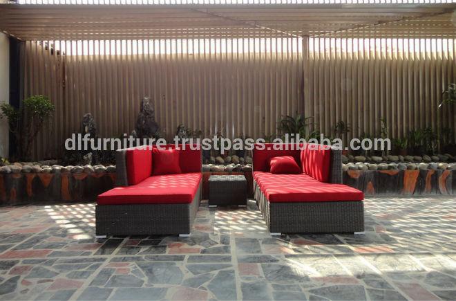 en plein air meubles d 39 int rieur en osier rotin chaise longue mobilier d 39 ext rieur id du. Black Bedroom Furniture Sets. Home Design Ideas