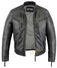Men leather jacket Antique look hot style
